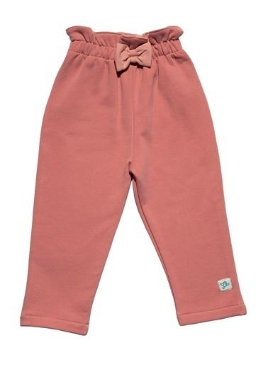 Nila Kids Pembe Rengi Kız Bebek Organik Pantolon NK04005P (3 AY - 5 YAş) Pembe